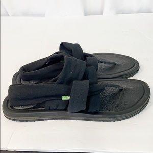 Sanuk Yoga Flip Flops Black 8
